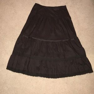 Brown tiered skirt
